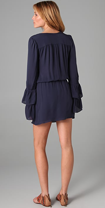 Parker Double Flared Sleeve Dress