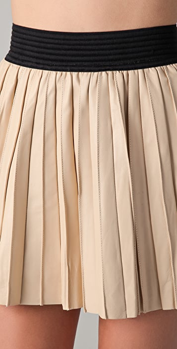 3c461db971 Parker Pleated Leather Skirt | SHOPBOP