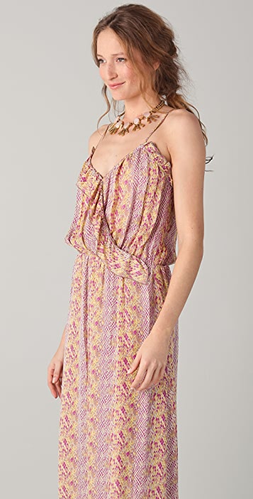Parker Long Ruffle Wrap Dress