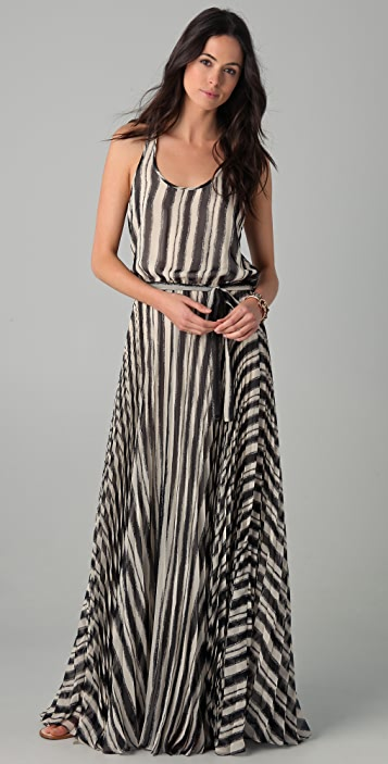 Parker Long Pleated Dress