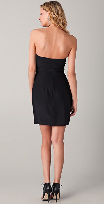 Parker Ruched Strapless Dress