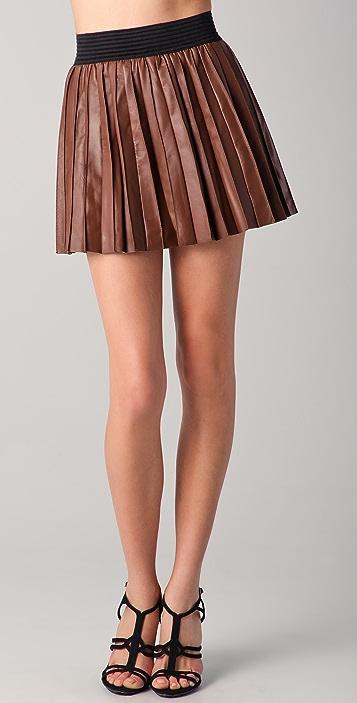3e0d97ad83 Parker Pleated Leather Miniskirt | SHOPBOP