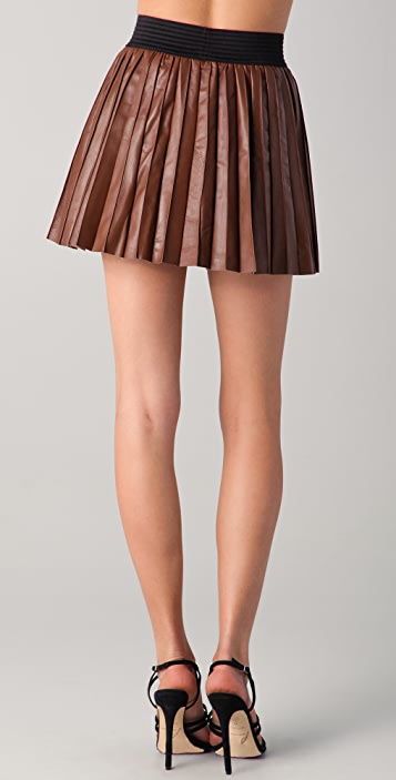 bc34f7a9f3 Parker Pleated Leather Miniskirt; Parker Pleated Leather Miniskirt ...