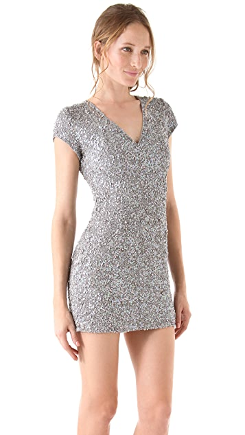 Parker Sequined V Neck Dress
