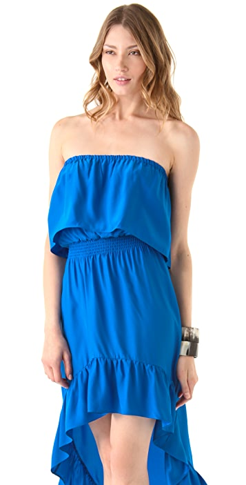 Parker Strapless Hi-Lo Dress