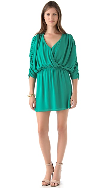 Parker Rouched Sleeve Dress