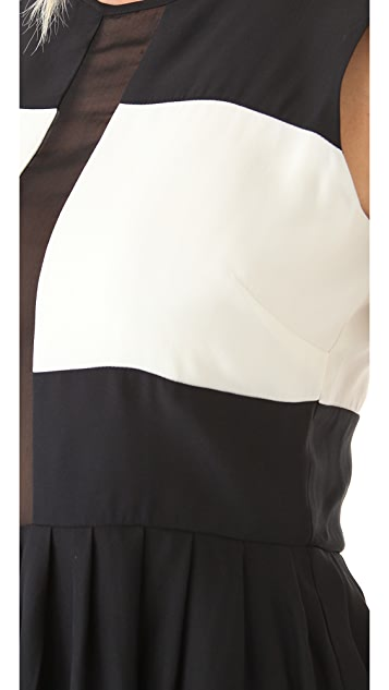 Parker Sheer Block Dress