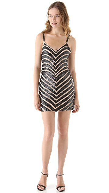 Parker Chevron Sequin Dress