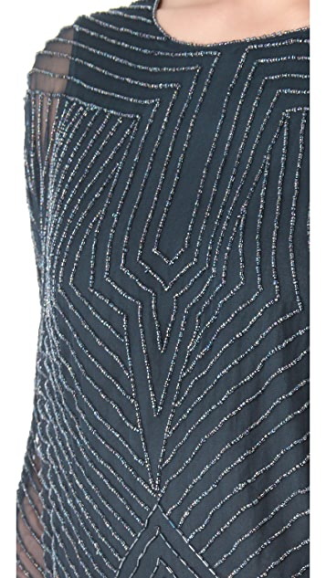 Parker Geometric Beaded Dress