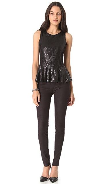 Parker Sequin Peplum Top
