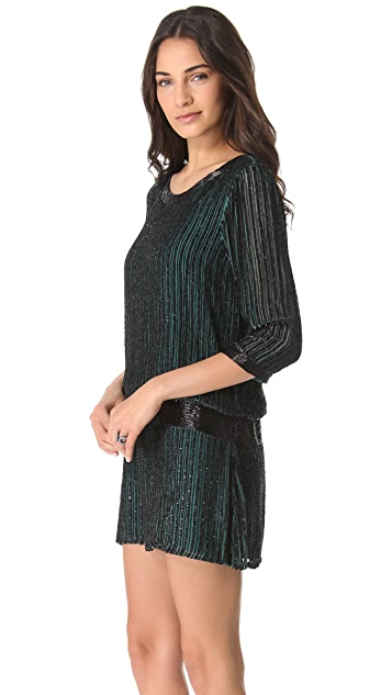 Parker Sequin Open Back Dress