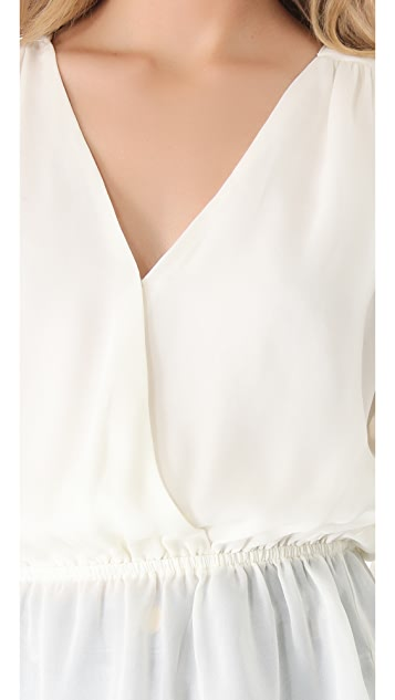 Parker Getty Peplum Top
