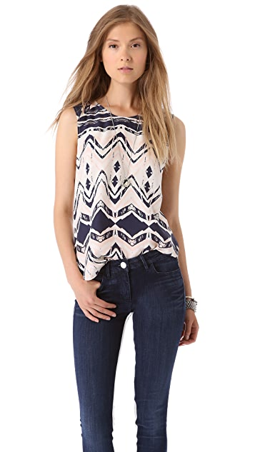 Parker Hanna Printed Top