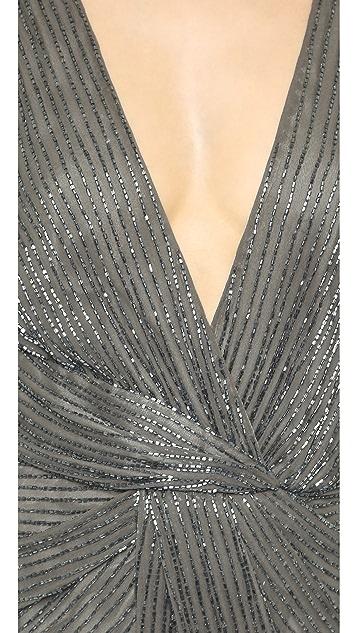 Parker Parker Black Monarch Silk Gown