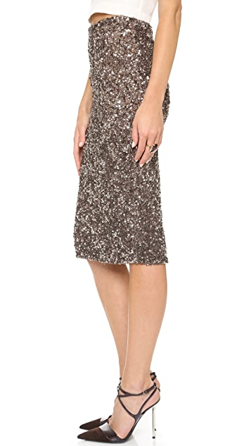 Parker Parker Black Cascade Skirt