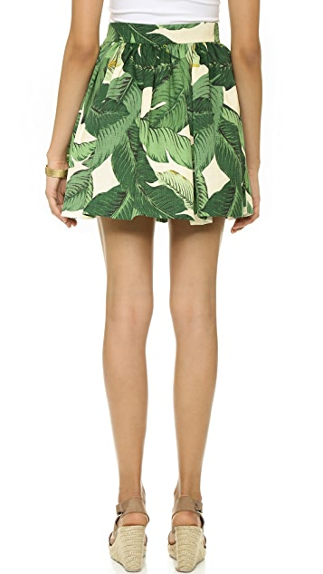 PARTYSKIRTS Palm Print Party Skirt