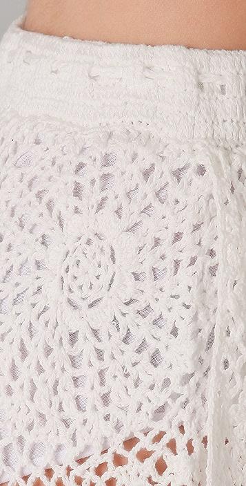 PJK Patterson J. Kincaid Welt Ribbon Crochet Short