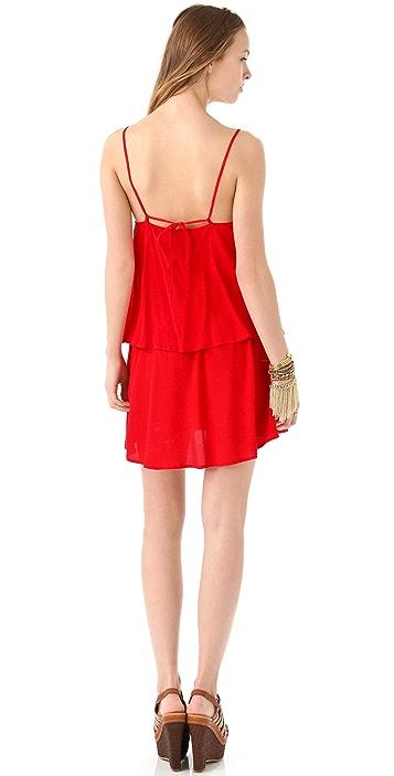PJK Patterson J. Kincaid Ivy Drop Ruffle Dress
