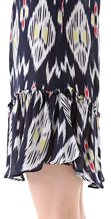 PJK Patterson J. Kincaid Dotted Ikat Parker Dress