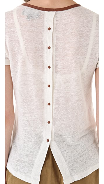 PJK Patterson J. Kincaid Navarro Button Back Tee
