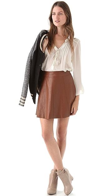 PJK Patterson J. Kincaid Polly Flirty Leather Skirt
