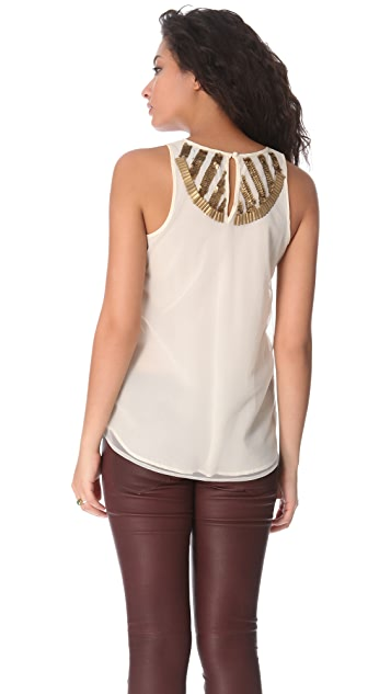 PJK Patterson J. Kincaid Marcel Beaded Tank