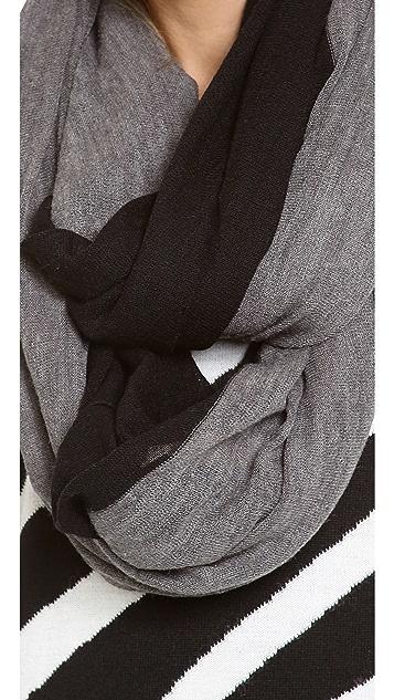 Paula Bianco Colorblock Wrap Scarf
