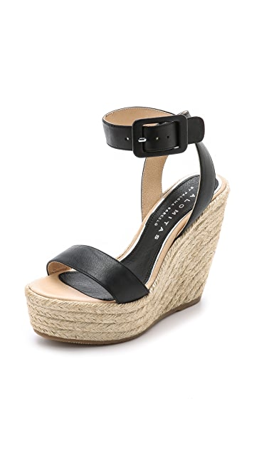 Paloma Barcelo Platform Wedge Espadrille Sandals