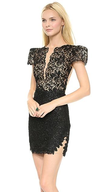Patricia Bonaldi Lace Poof Sleeve Dress