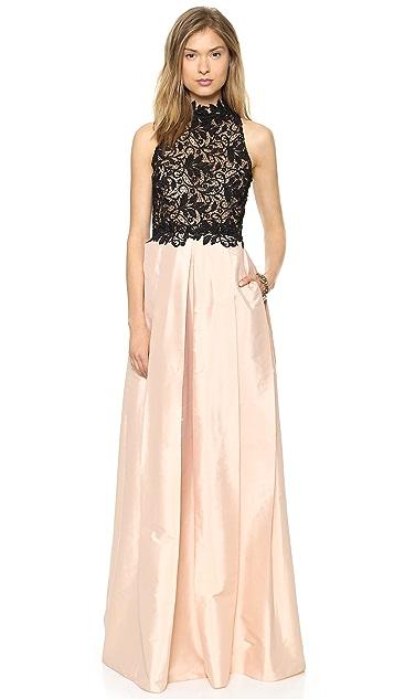 Patricia Bonaldi Taffeta & Lace Gown