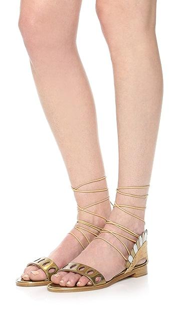 Paula Cademartori Lotus Flat Sandals