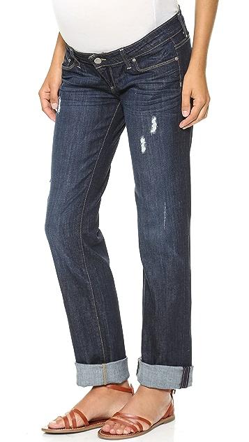 PAIGE Jimmy Jimmy Maternity Boyfriend Jeans