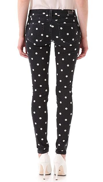 PAIGE Polka Dot Verdugo Skinny Jeans