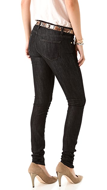 PAIGE Ultra Skinny Rucher Jeans