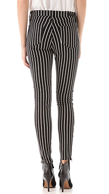 PAIGE Hoxton Striped Skinny Jeans