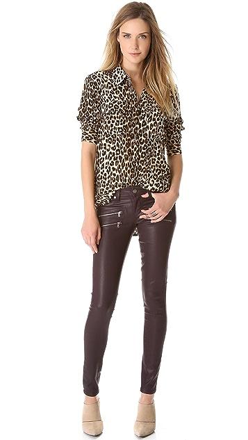 PAIGE Edgemont Skinny Coated Jeans