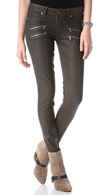 PAIGE Edgemont Skinny Coated Jeans