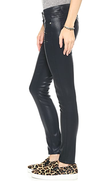PAIGE Edgemont Coated Skinny Jeans