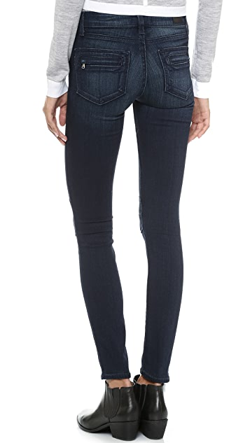 PAIGE Ollie Moto Skinny Jeans