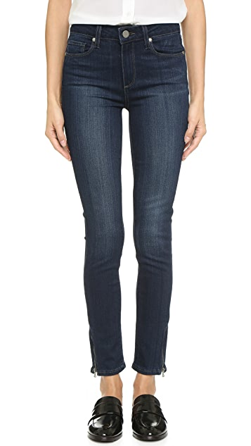 PAIGE Transcend Hoxton Ankle Zip Jeans