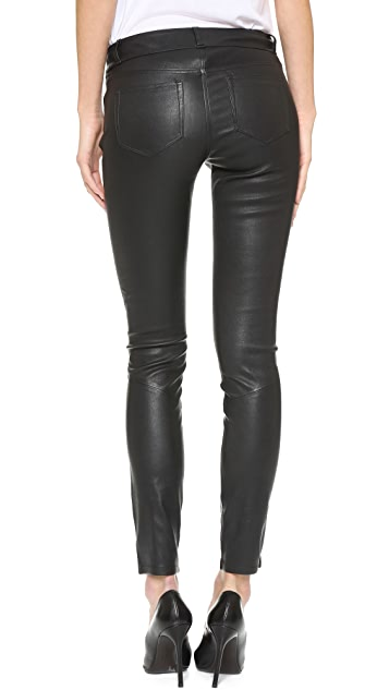 PAIGE Verdugo Leather Pants