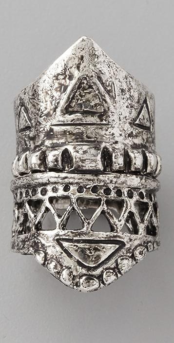 A Peace Treaty Bedia Engraved Ring