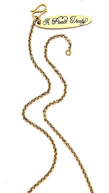 A Peace Treaty Dzeh Mini Bullhorn Necklace