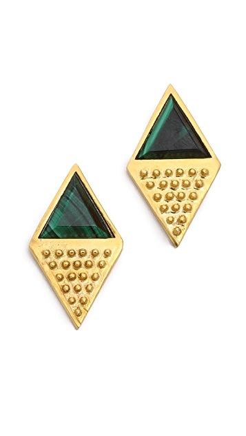 A Peace Treaty Korla Malachite Earrings