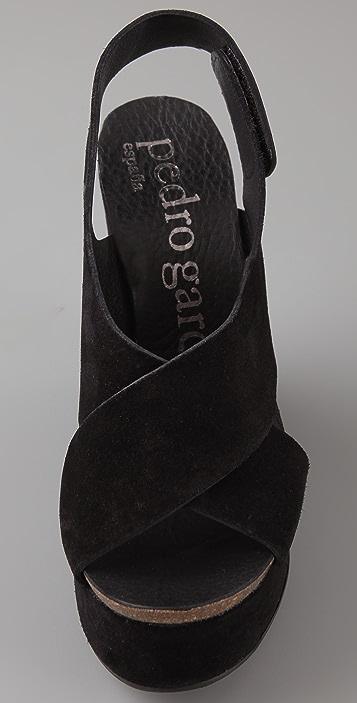 Pedro Garcia Tamira Suede Wedge Sandals