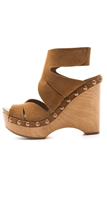 Pedro Garcia Agatha Suede Wedge Sandals