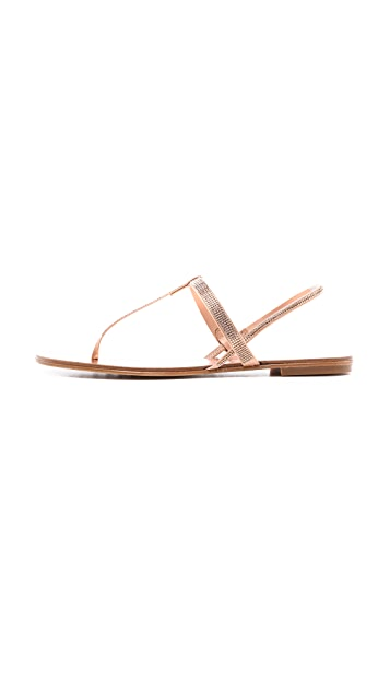 Pedro Garcia Ella Crystal Flat Sandals