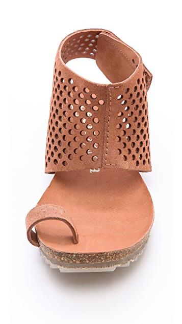 Pedro Garcia Venus Perforated Toe Ring Sandals