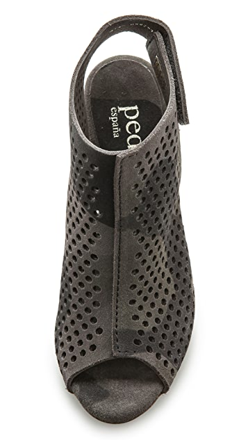 Pedro Garcia Sofia Perforated Open Toe Booties