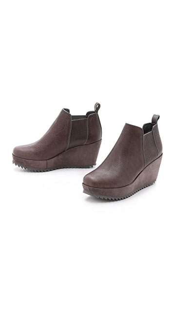 Pedro Garcia Fawn Wedge Booties